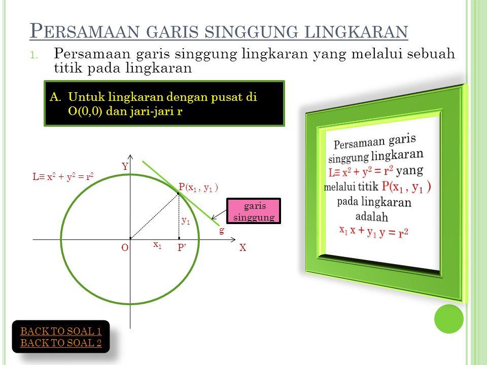 Persamaan garis singgung lingkaran