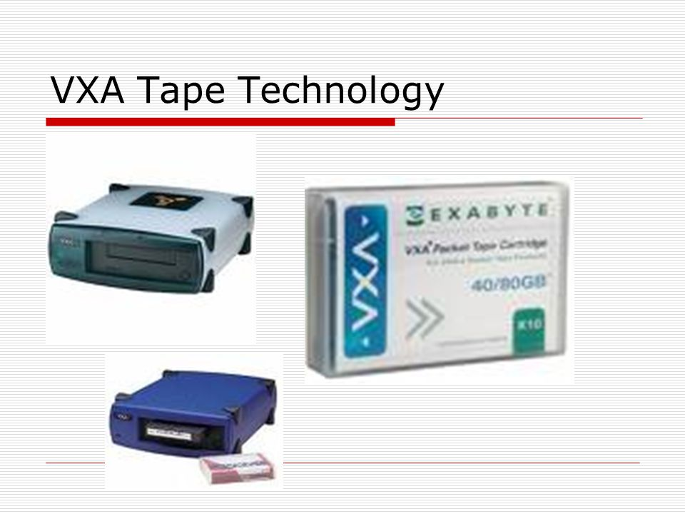 VXA Tape Technology
