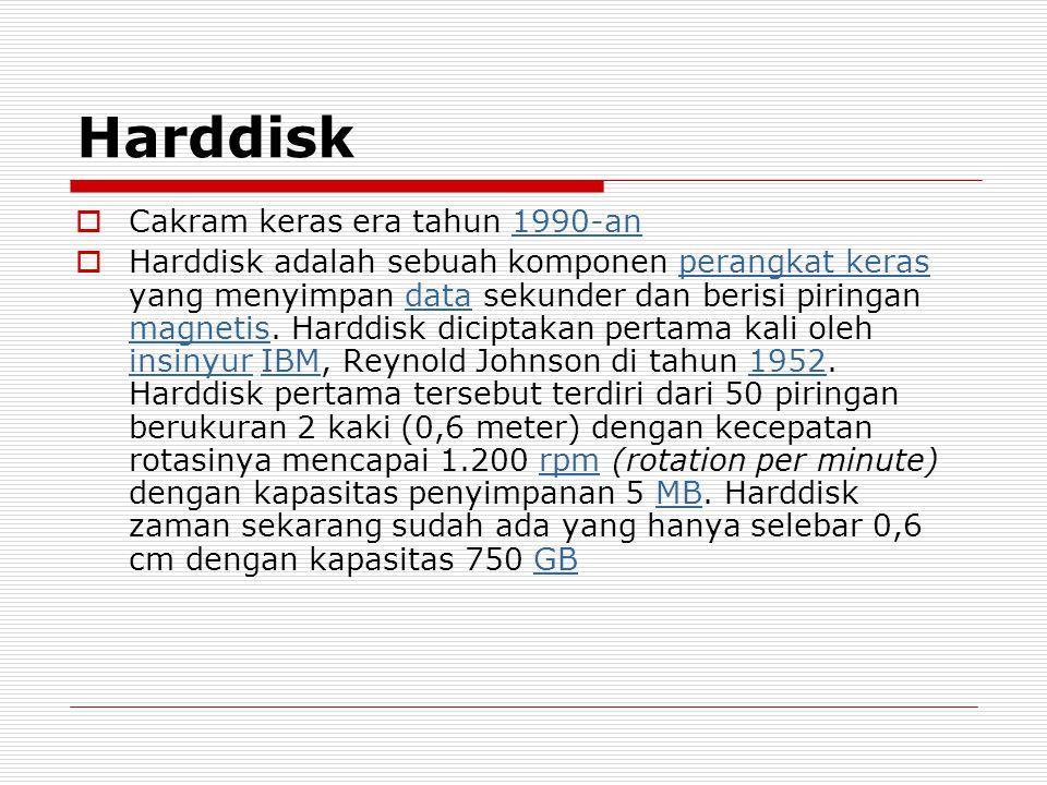Harddisk Cakram keras era tahun 1990-an