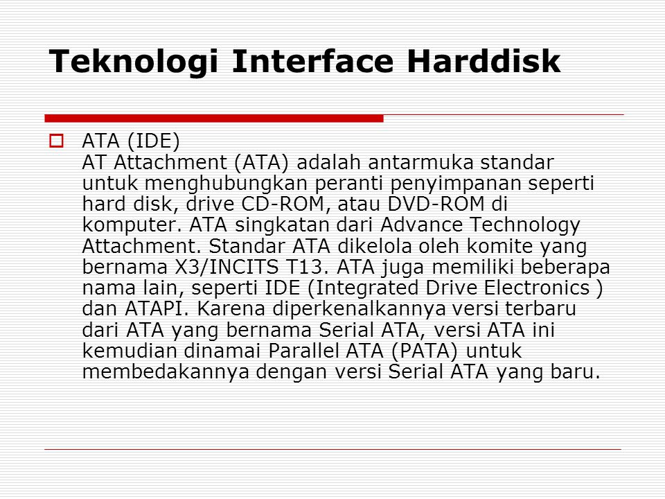 Teknologi Interface Harddisk