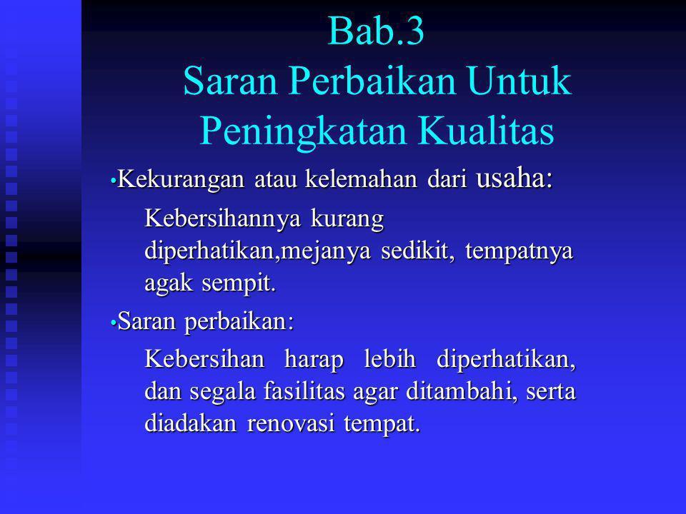 Bab.3 Saran Perbaikan Untuk Peningkatan Kualitas