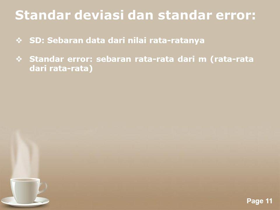 Standar deviasi dan standar error: