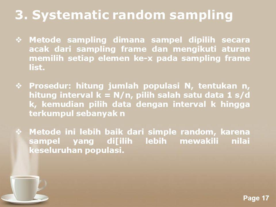 3. Systematic random sampling