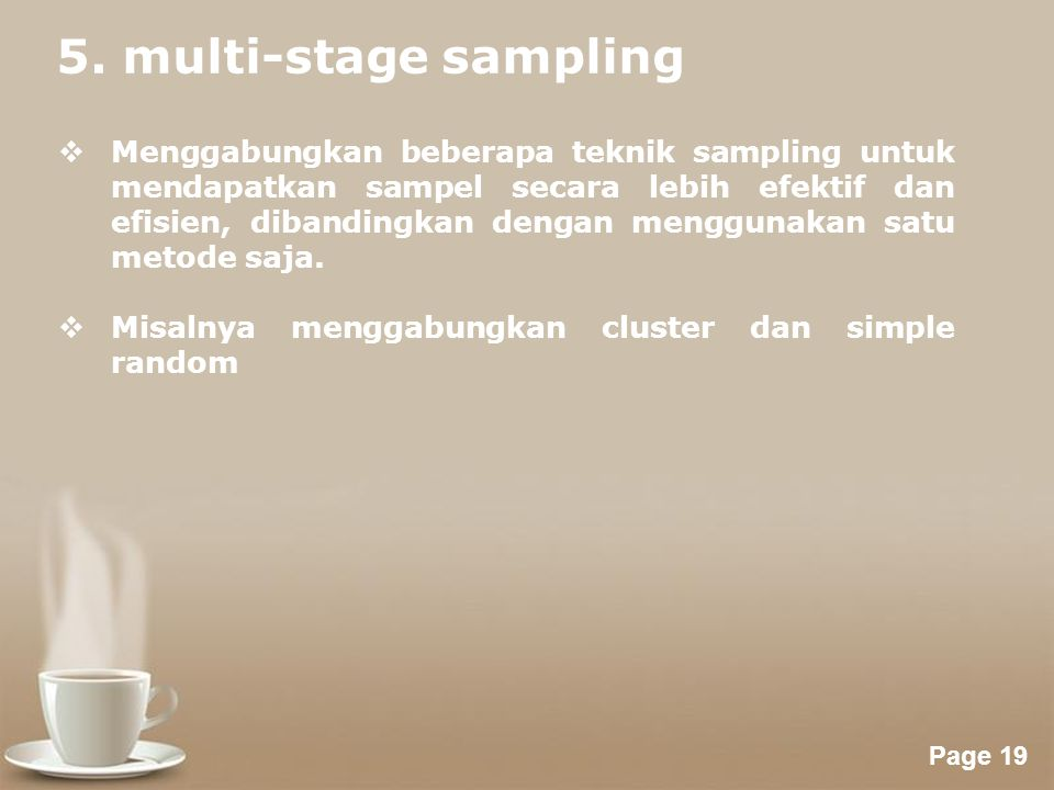 5. multi-stage sampling