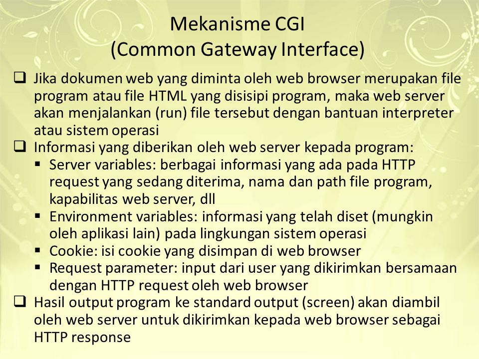 (Common Gateway Interface)