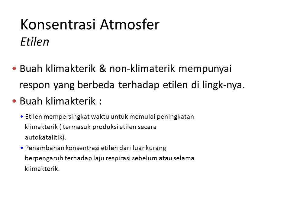 Konsentrasi Atmosfer Etilen