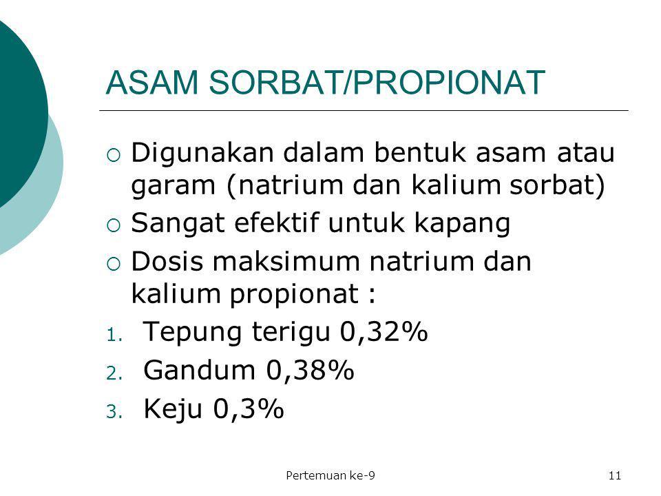 ASAM SORBAT/PROPIONAT
