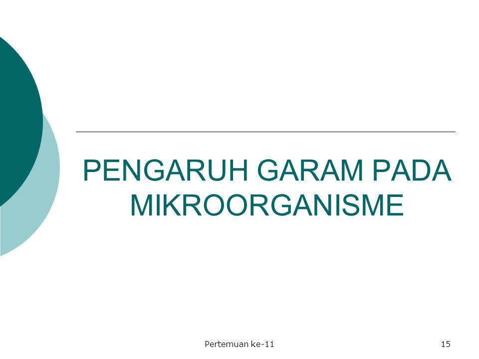 PENGARUH GARAM PADA MIKROORGANISME