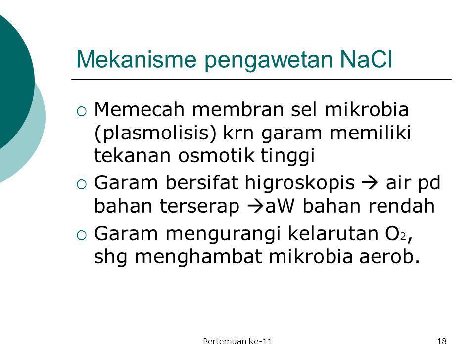 Mekanisme pengawetan NaCl
