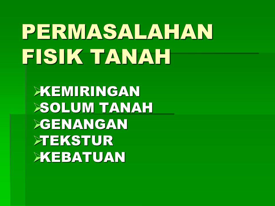 PERMASALAHAN FISIK TANAH