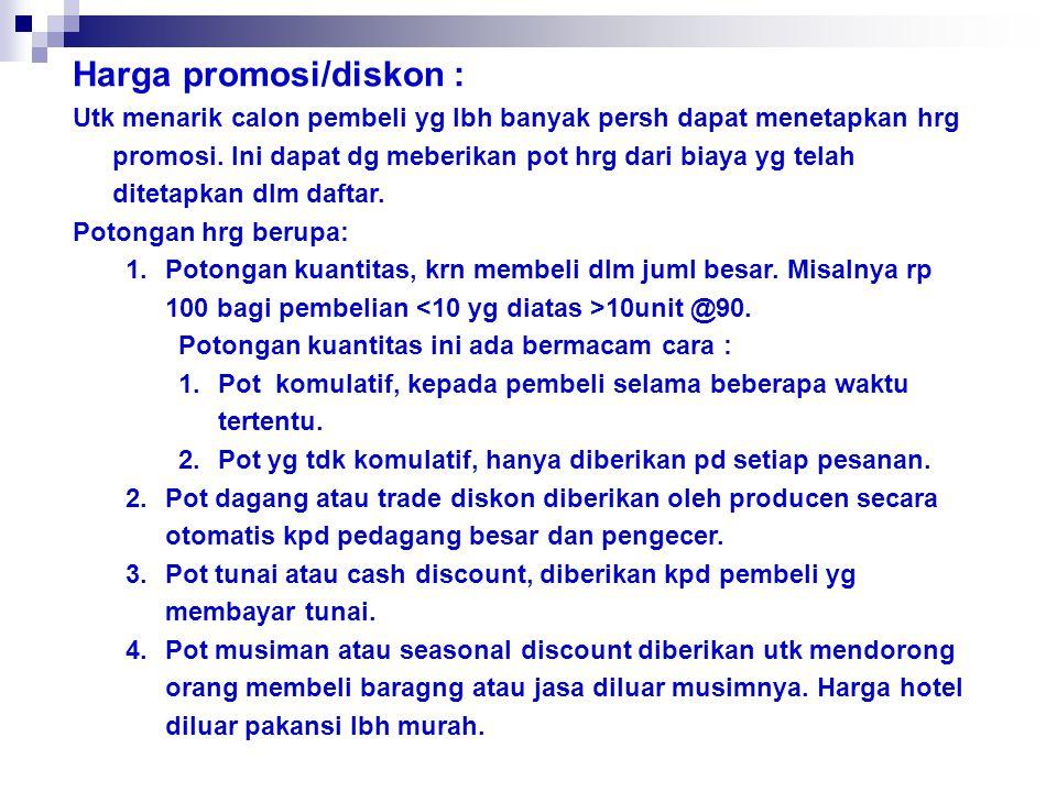 Harga promosi/diskon :