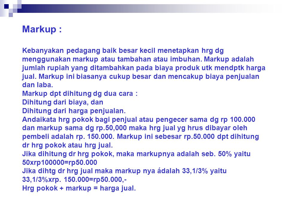 Markup :