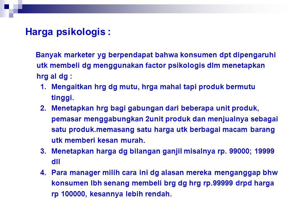 Harga psikologis :