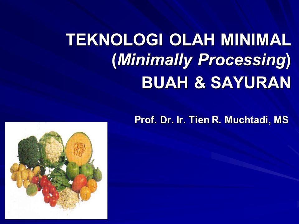 TEKNOLOGI OLAH MINIMAL (Minimally Processing) BUAH & SAYURAN