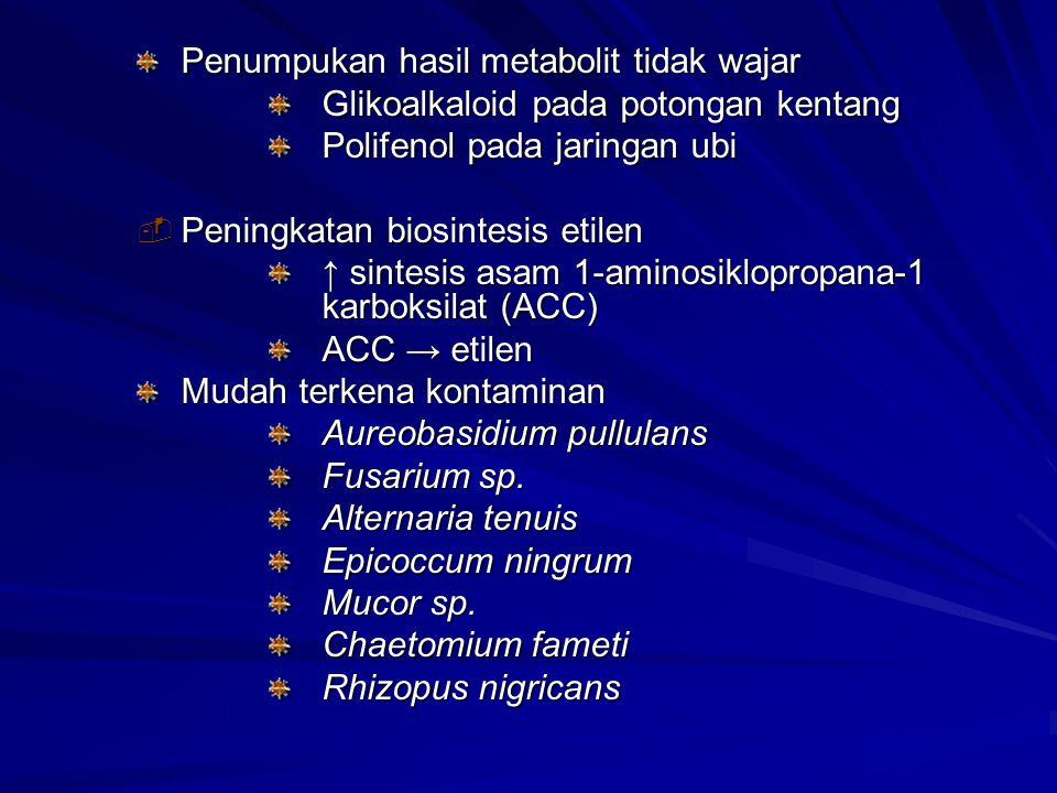 Penumpukan hasil metabolit tidak wajar