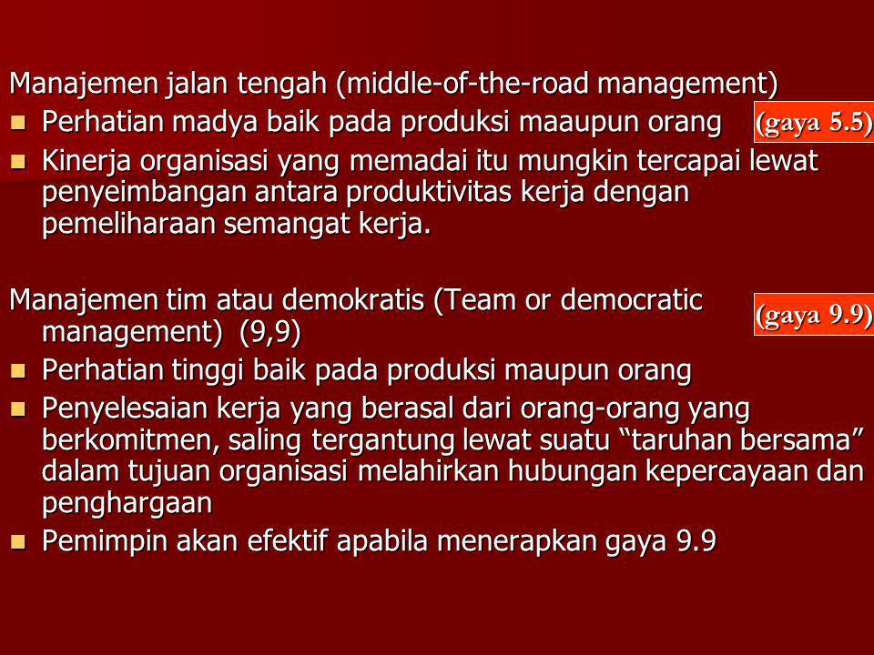 Manajemen jalan tengah (middle-of-the-road management)