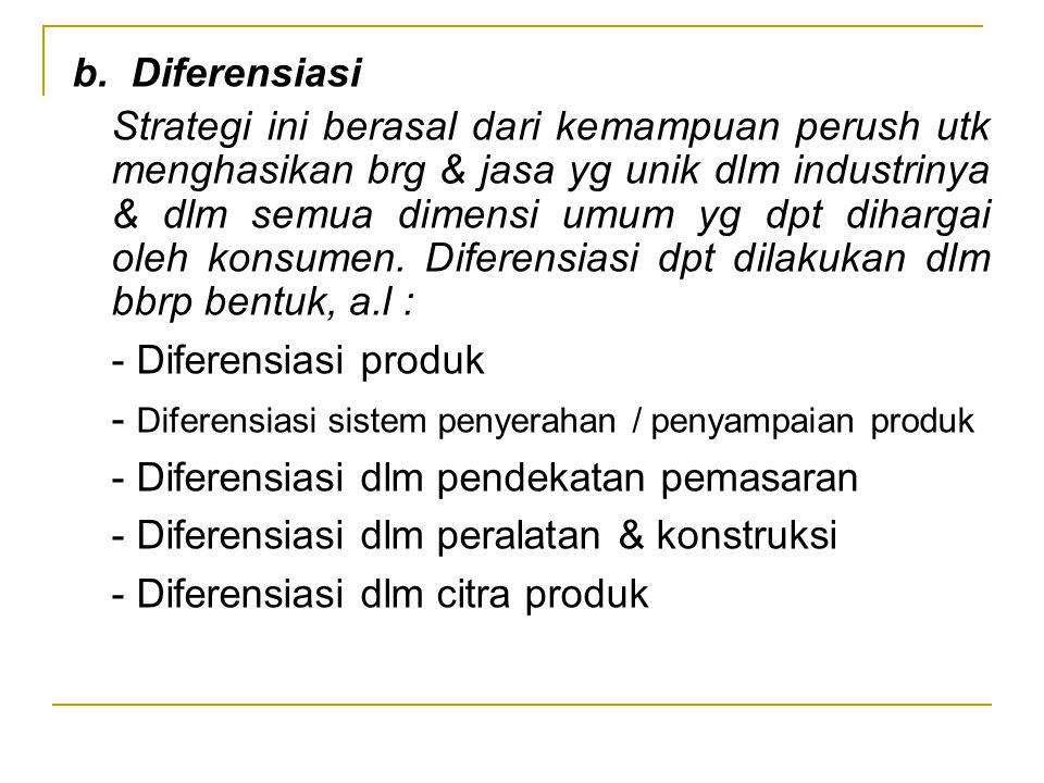 b. Diferensiasi