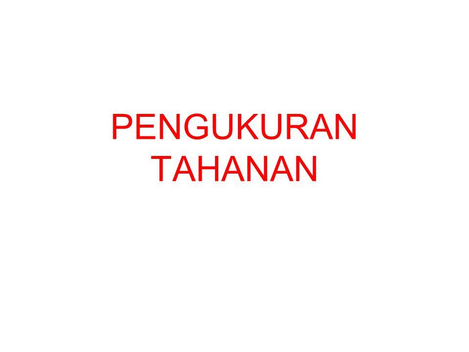 PENGUKURAN TAHANAN