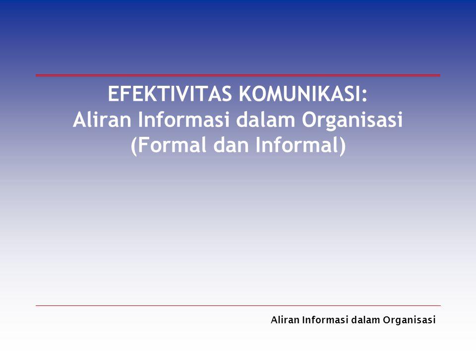 EFEKTIVITAS KOMUNIKASI: Aliran Informasi dalam Organisasi (Formal dan Informal)