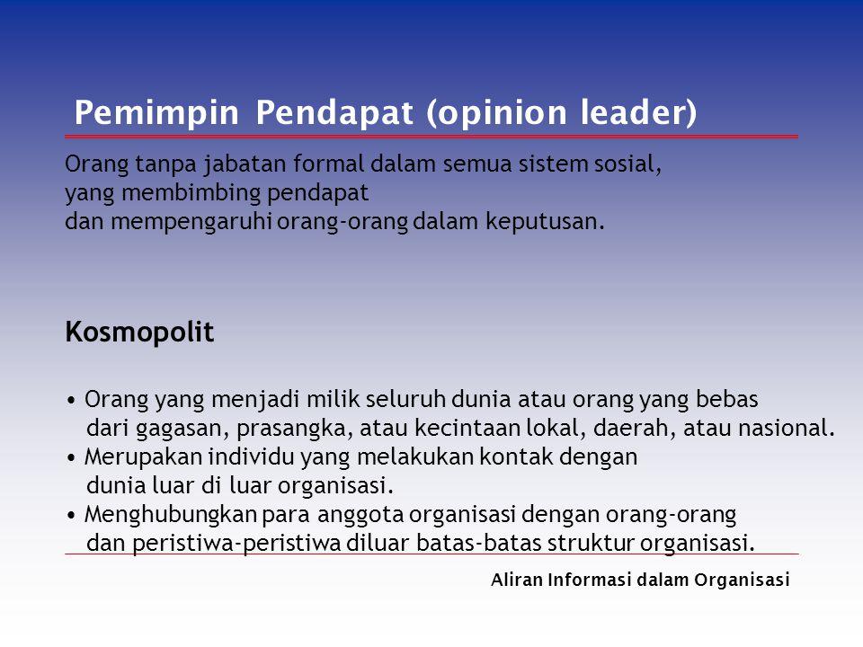 Pemimpin Pendapat (opinion leader)