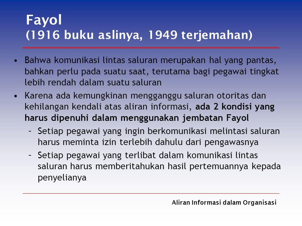 Fayol (1916 buku aslinya, 1949 terjemahan)