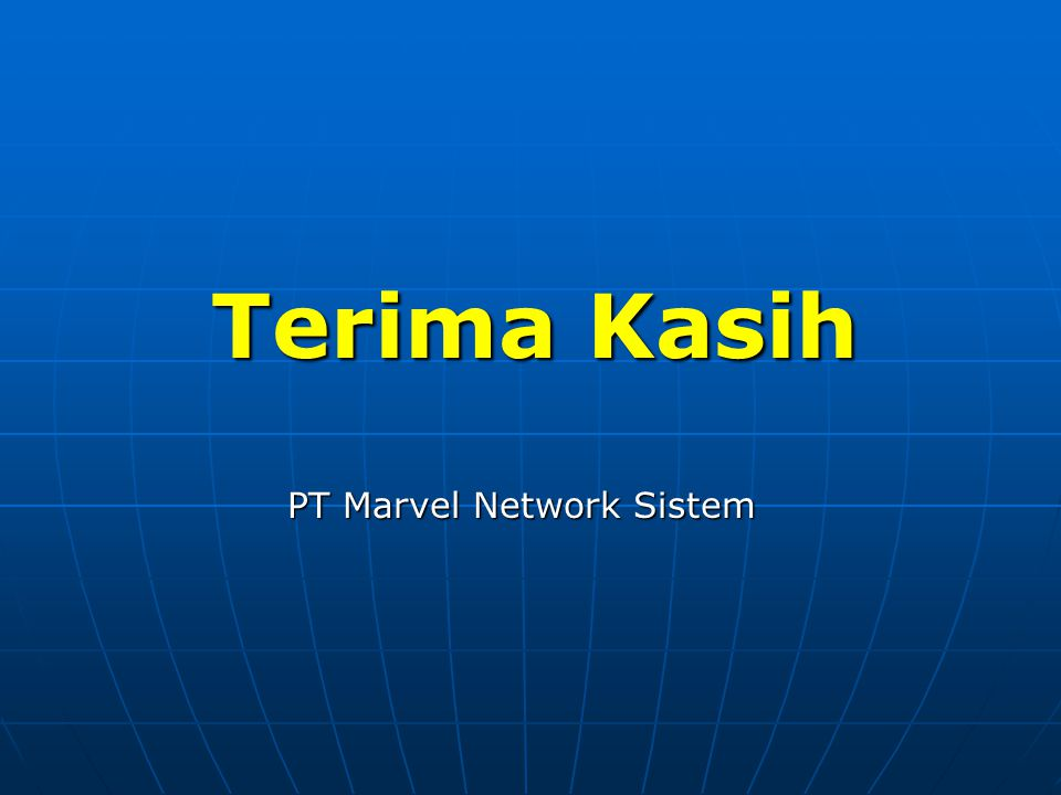 PT Marvel Network Sistem