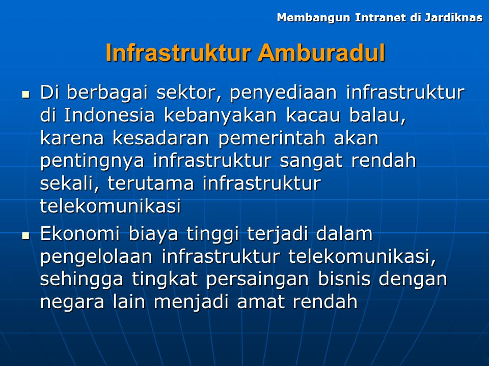Infrastruktur Amburadul