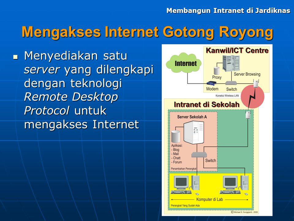 Mengakses Internet Gotong Royong