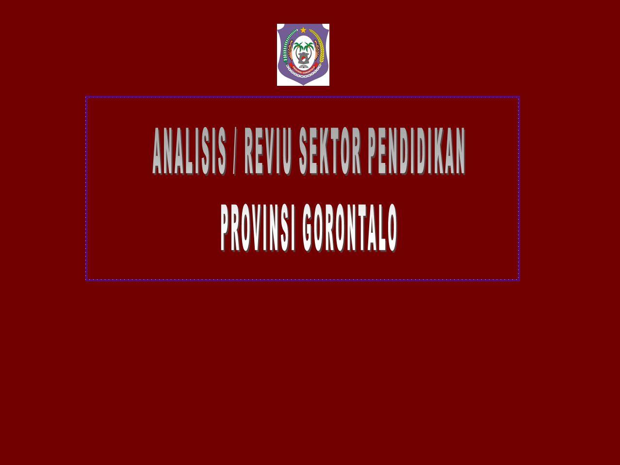 ANALISIS / REVIU SEKTOR PENDIDIKAN