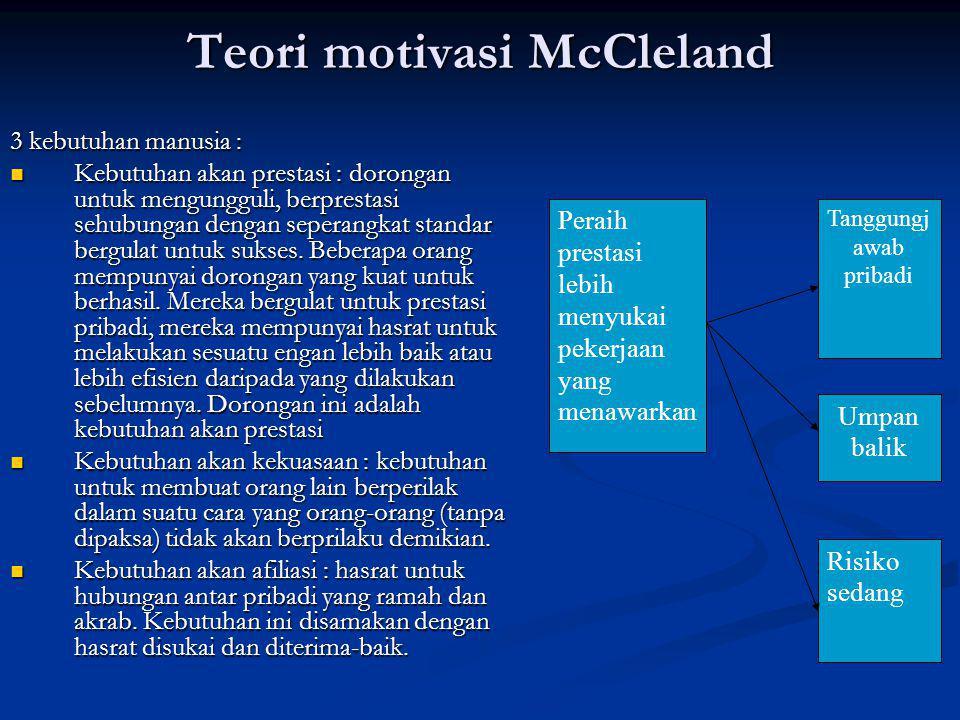 Teori motivasi McCleland