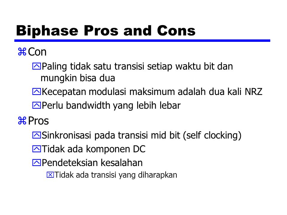 Biphase Pros and Cons Con Pros