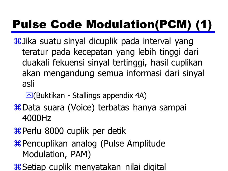 Pulse Code Modulation(PCM) (1)