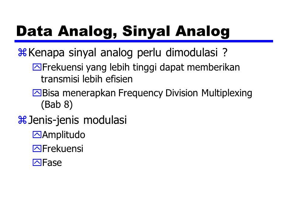 Data Analog, Sinyal Analog