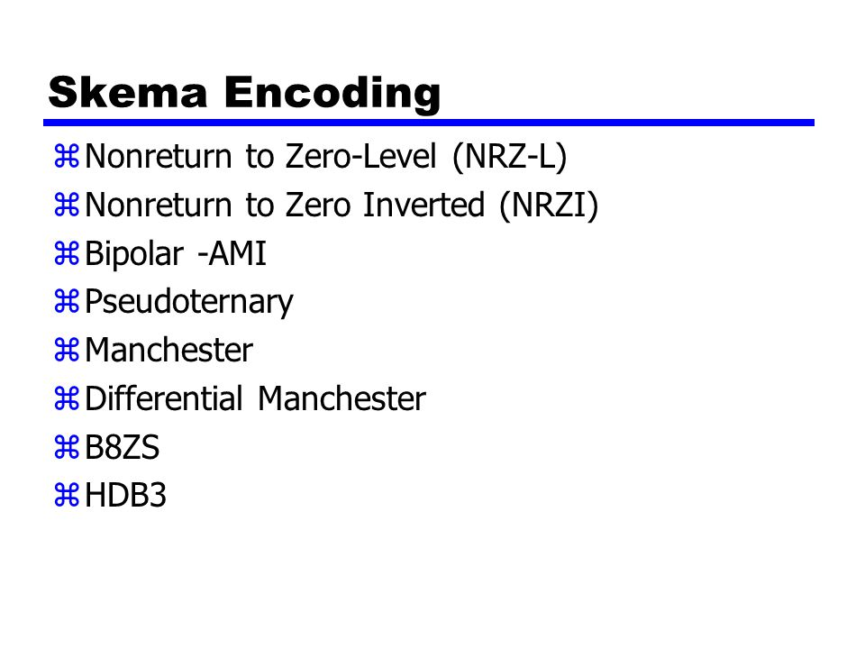 Skema Encoding Nonreturn to Zero-Level (NRZ-L)