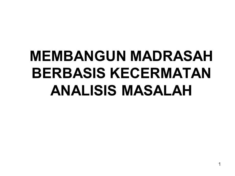 MEMBANGUN MADRASAH BERBASIS KECERMATAN ANALISIS MASALAH