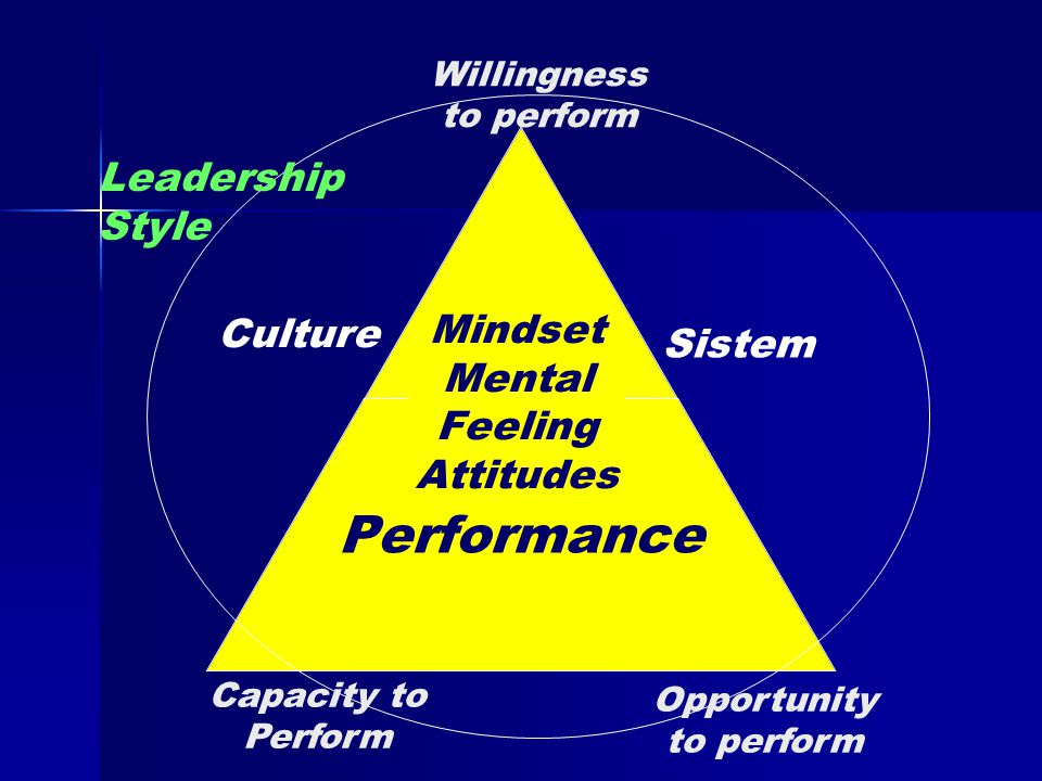 Culture Capacity to Perform Opportunity to perform