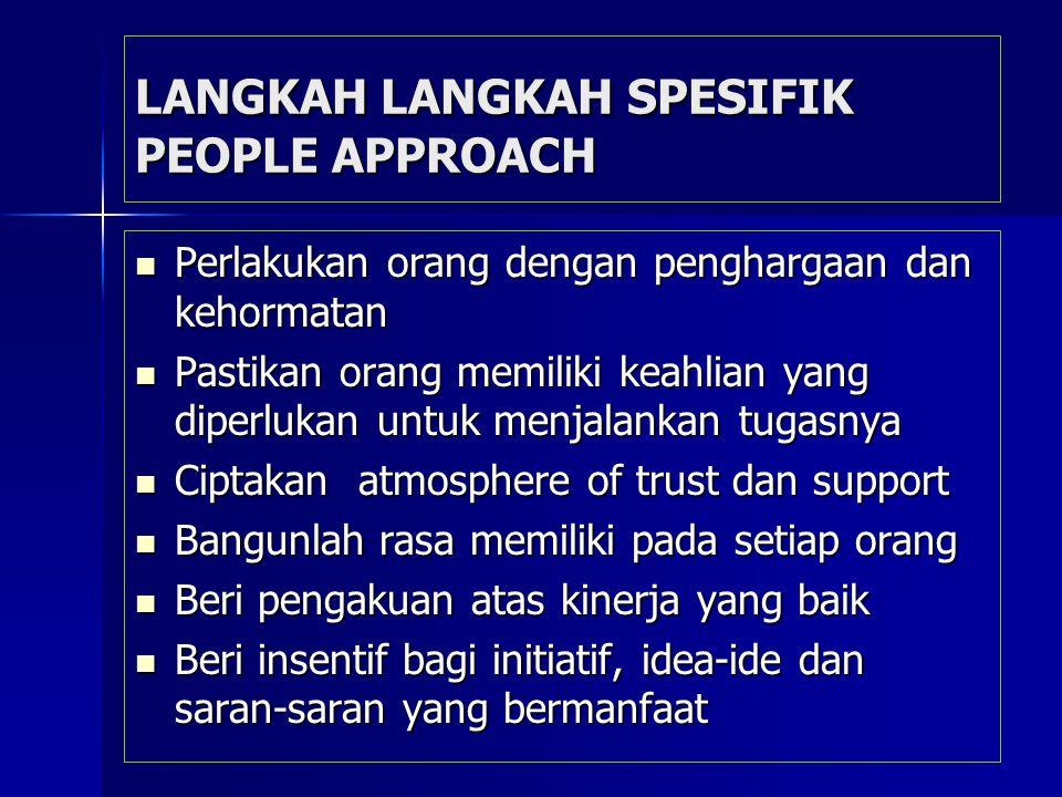 LANGKAH LANGKAH SPESIFIK PEOPLE APPROACH