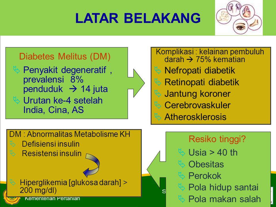 LATAR BELAKANG Diabetes Melitus (DM) Nefropati diabetik