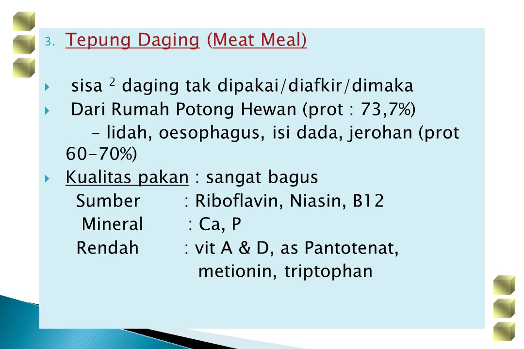 Tepung Daging (Meat Meal)
