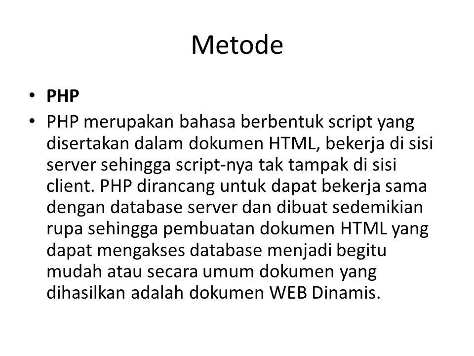 Metode PHP.