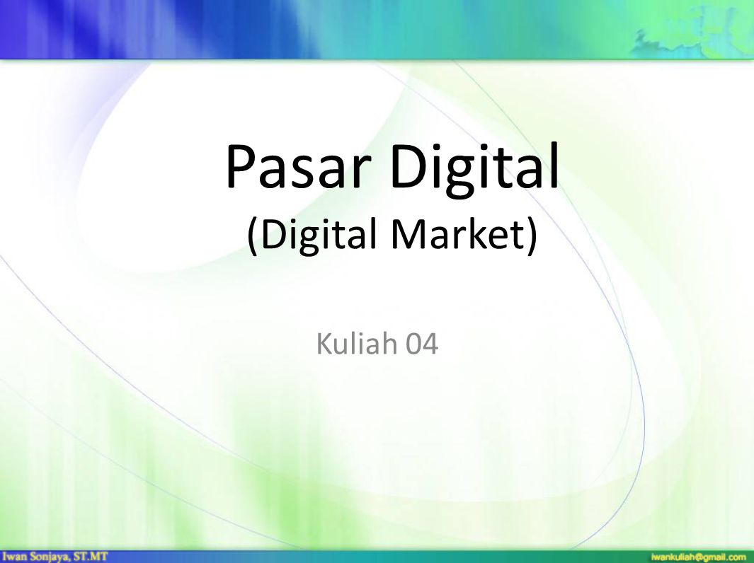 Pasar Digital (Digital Market)