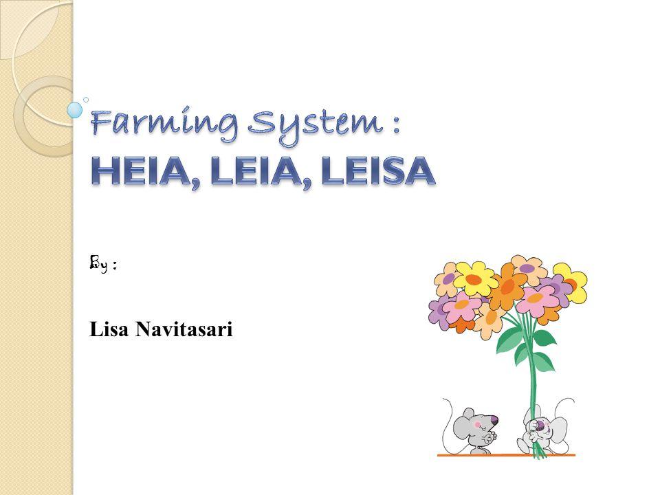 Farming System : HEIA, LEIA, LEISA