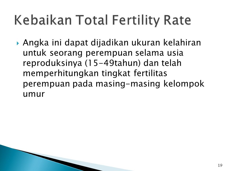 Kebaikan Total Fertility Rate