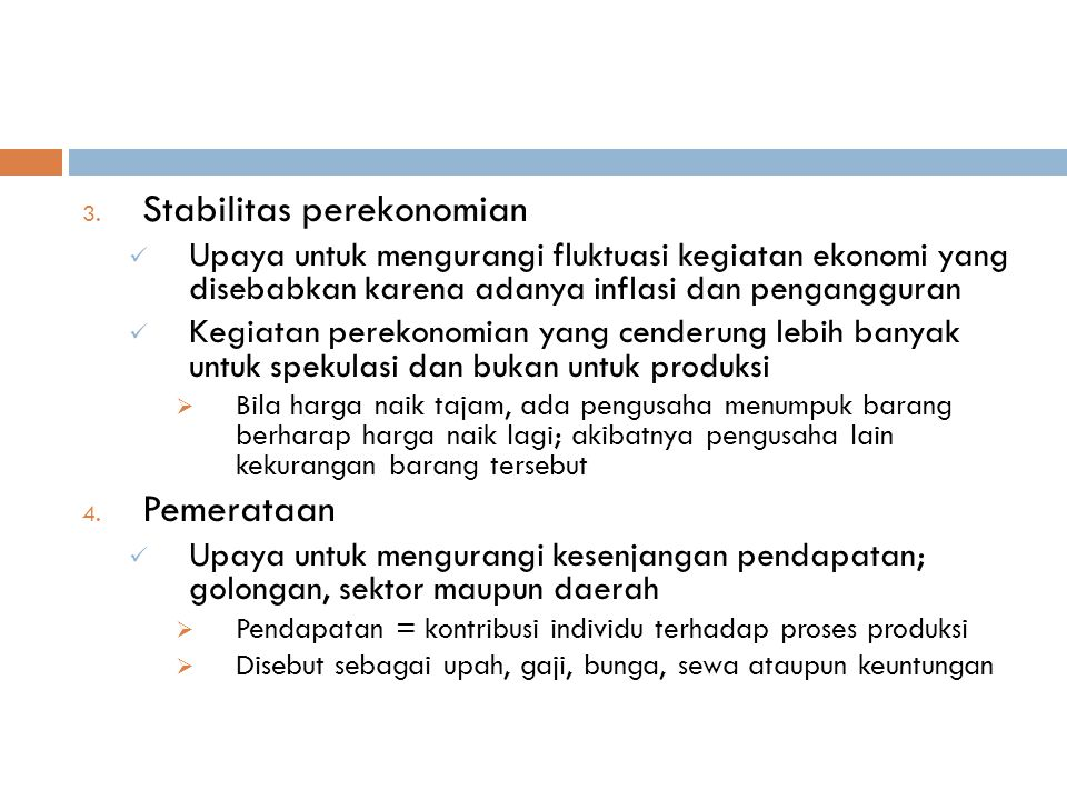 Stabilitas perekonomian