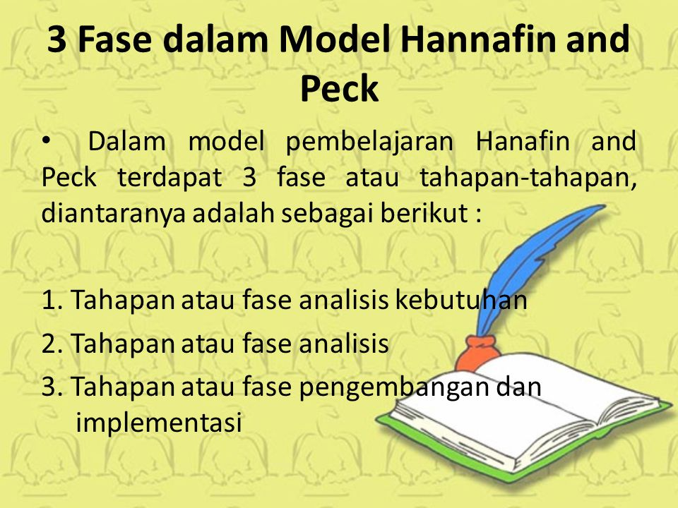3 Fase dalam Model Hannafin and Peck