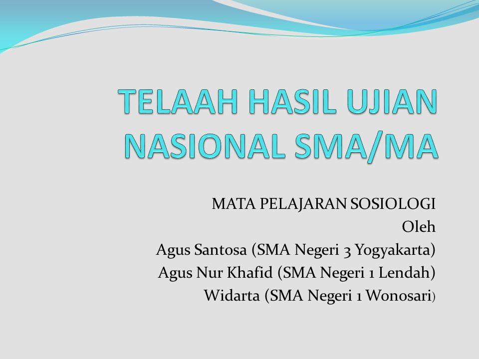 TELAAH HASIL UJIAN NASIONAL SMA/MA