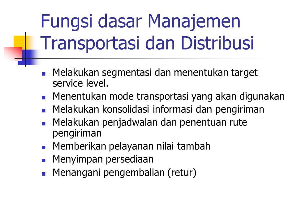 Fungsi dasar Manajemen Transportasi dan Distribusi