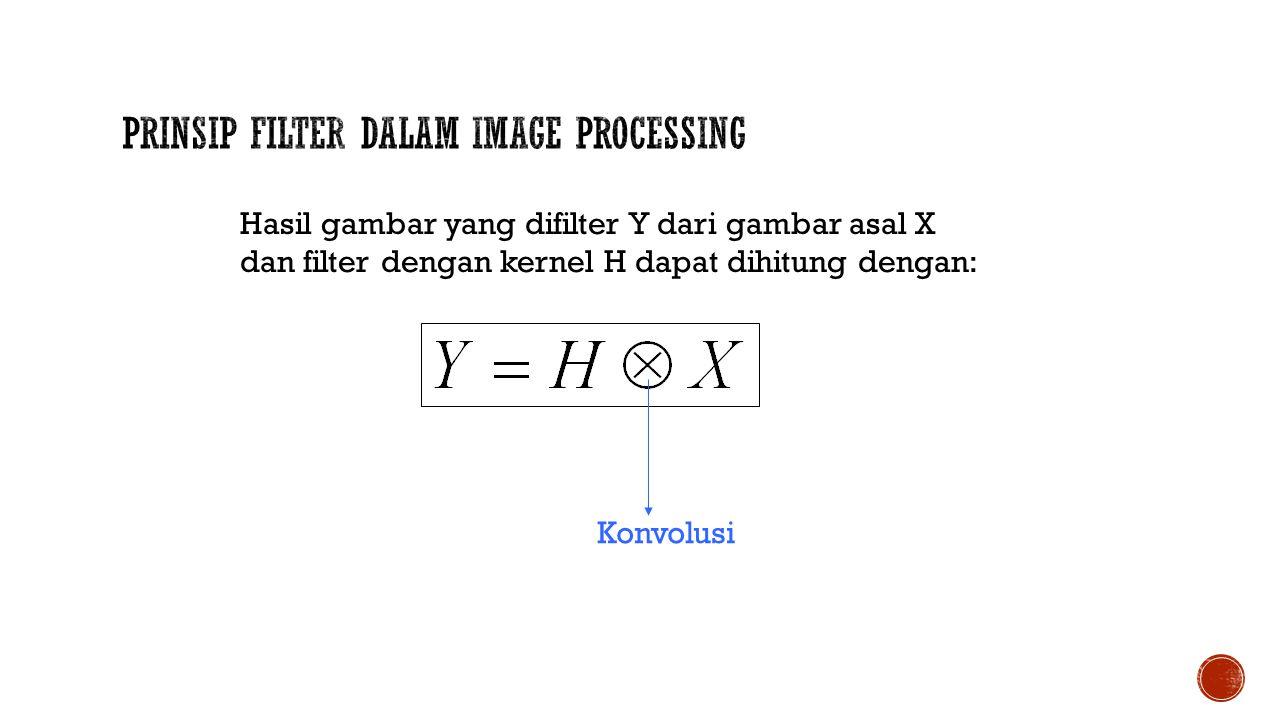 Prinsip Filter Dalam Image Processing