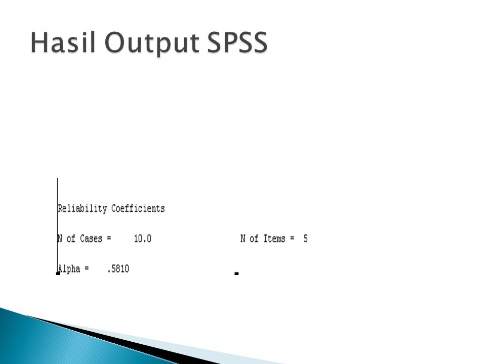 Hasil Output SPSS