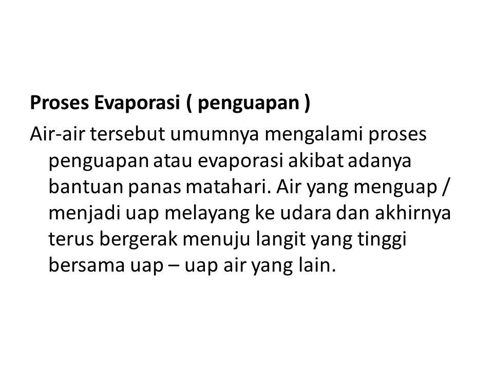 Proses Evaporasi ( penguapan )